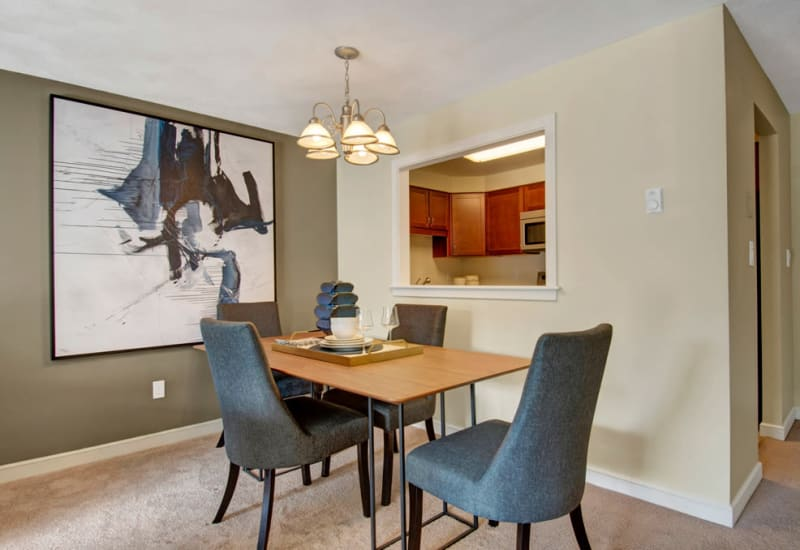 Dining area at Gardencrest in Waltham, Massachusetts
