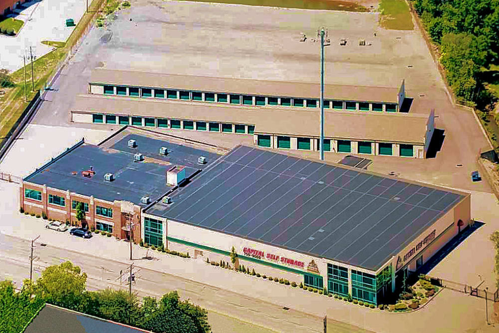 Aerial view of Capital Self Storage in York, PA