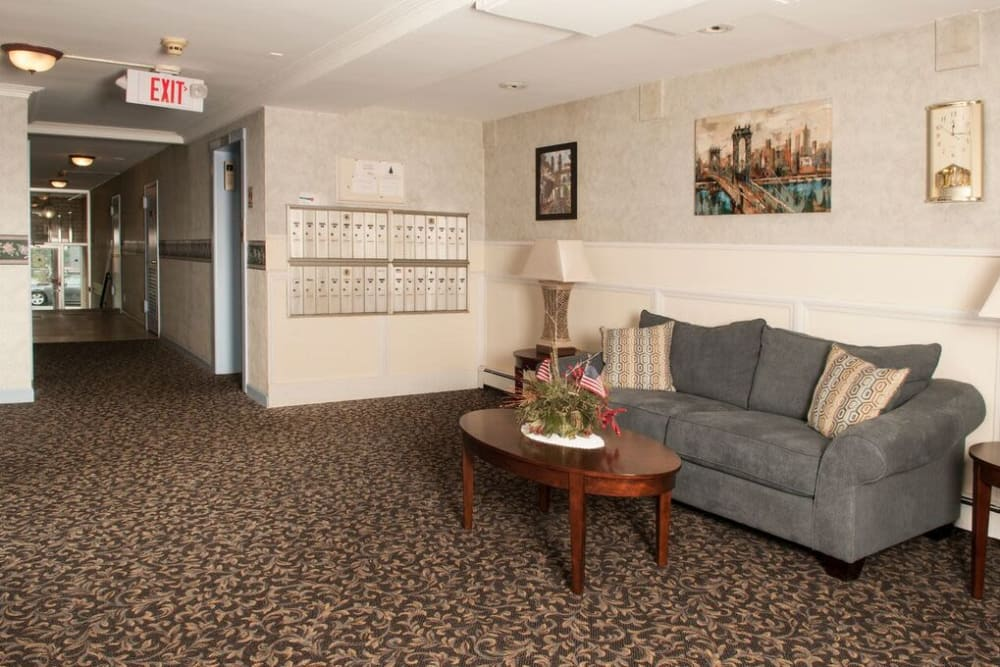 Lobby area at The Central House in Ridgefield Park, New Jersey