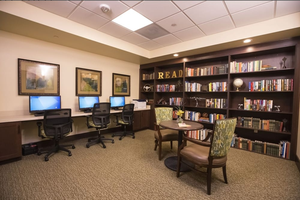 Media room at The Pointe at Summit Hills in Bakersfield, California.