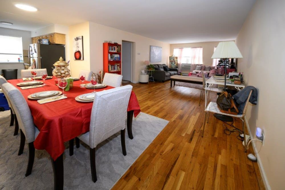 Large dining and living room at The Central House in Ridgefield Park, New Jersey