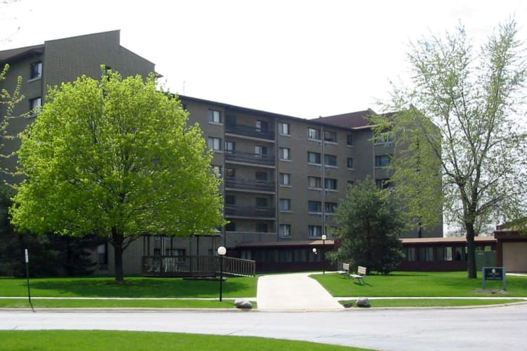 Exterior view of our buildings at Cedar Ridge in Richton Park, IL