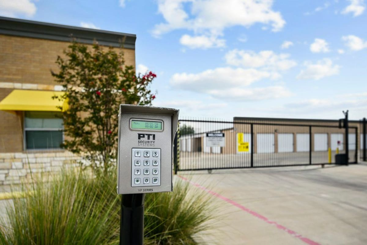 Electronic keypad entrance at Storage 365 in Garland, Texas