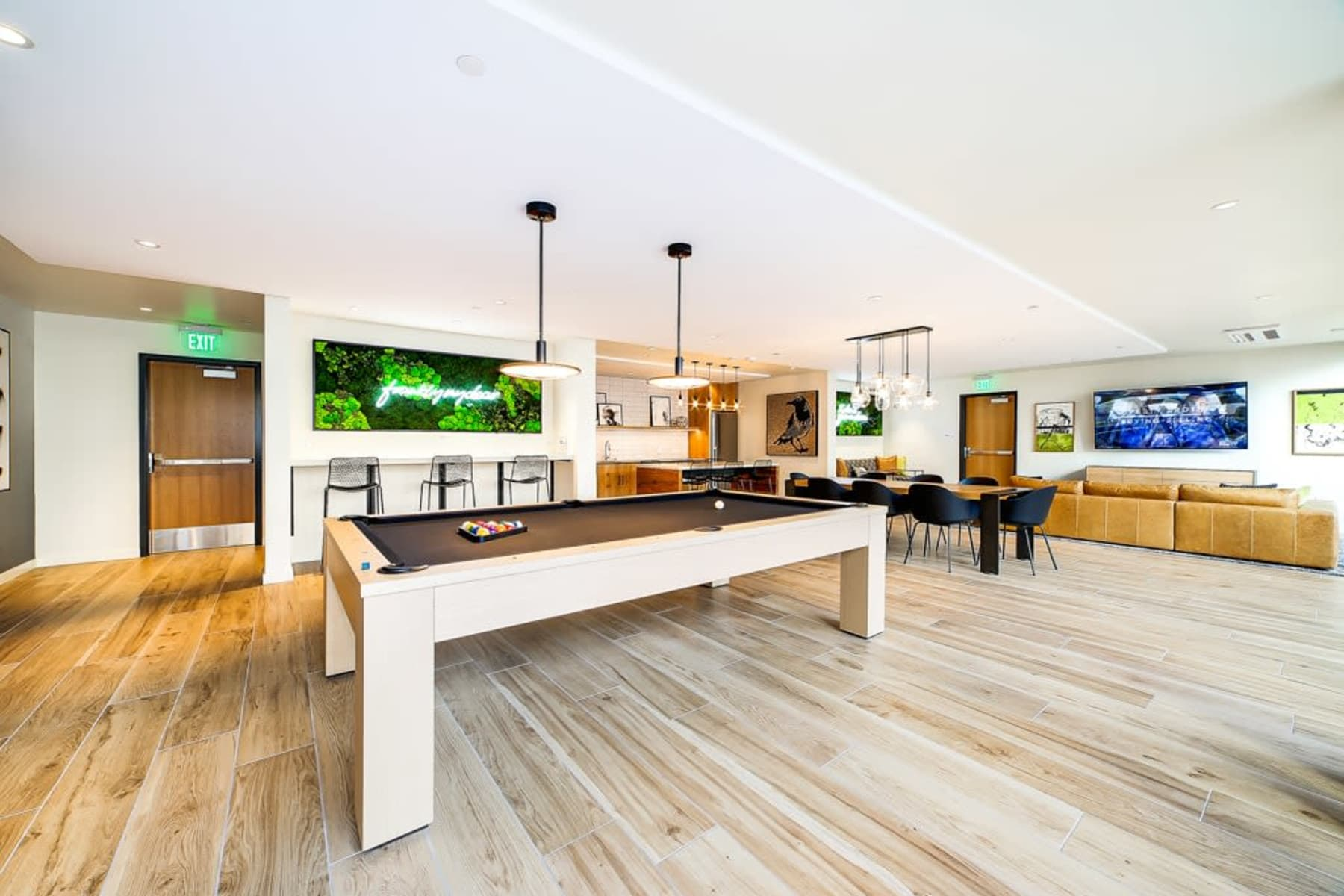 Pool table in Clubhouse at Blackbird in Redmond, Washington