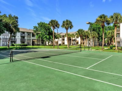 The tennis court at The Braxton in Palm Bay, Florida