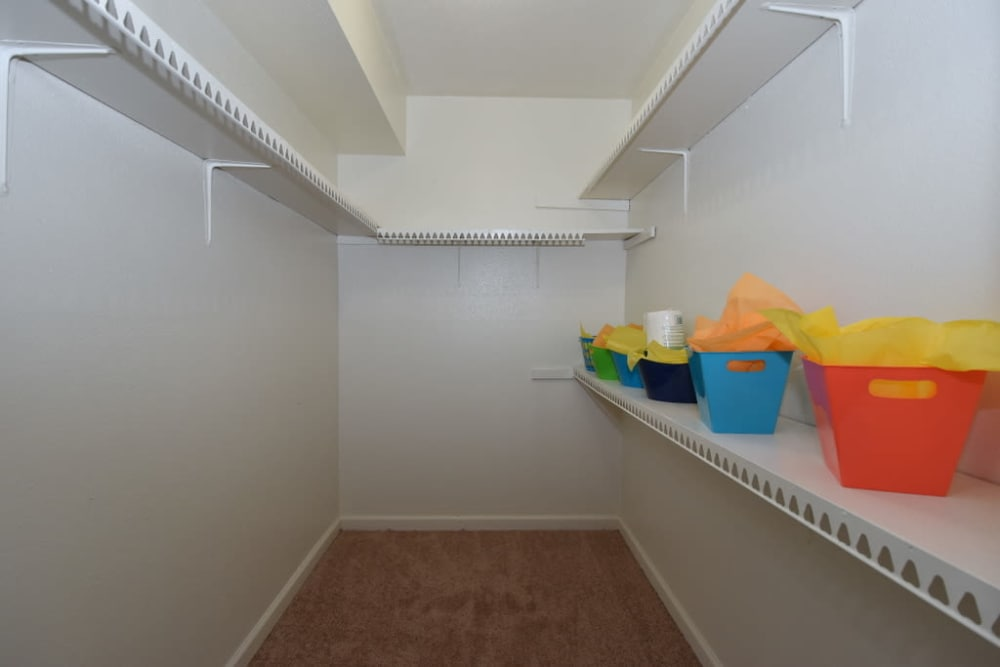 Falls of Maplewood Apartments has walk-in closets