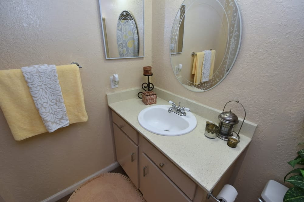 Modern Bathroom at Falls of Maplewood Apartments