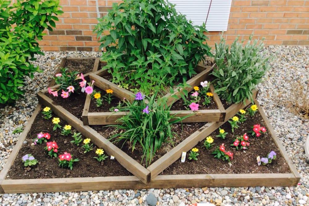 Garden at Stonegate Health Campus in Lapeer, Michigan