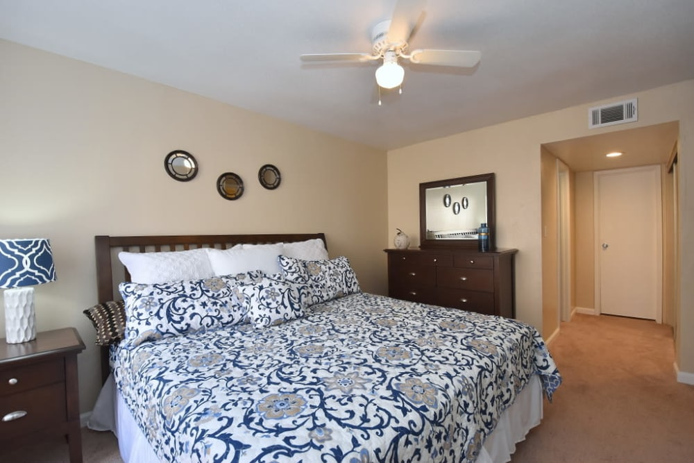 Secondary bedroom at Green Meadows Apartments