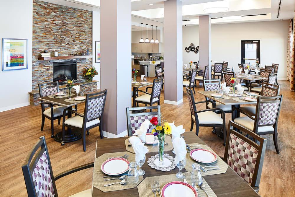 Resident dining room at Anthology of South Jordan in South Jordan, Utah