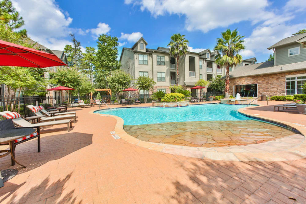 Swimming pool at Stone Creek at The Woodlands in The Woodlands, Texas