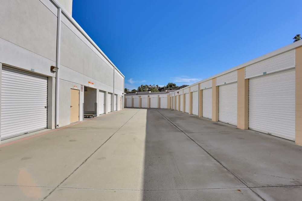 Outside storage at A-1 Self Storage in Lake Forest, California