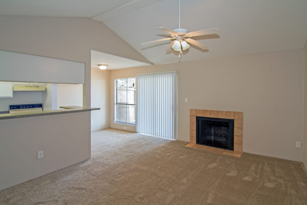 Living room at Meadow Park Apartments in Alvin, Texas