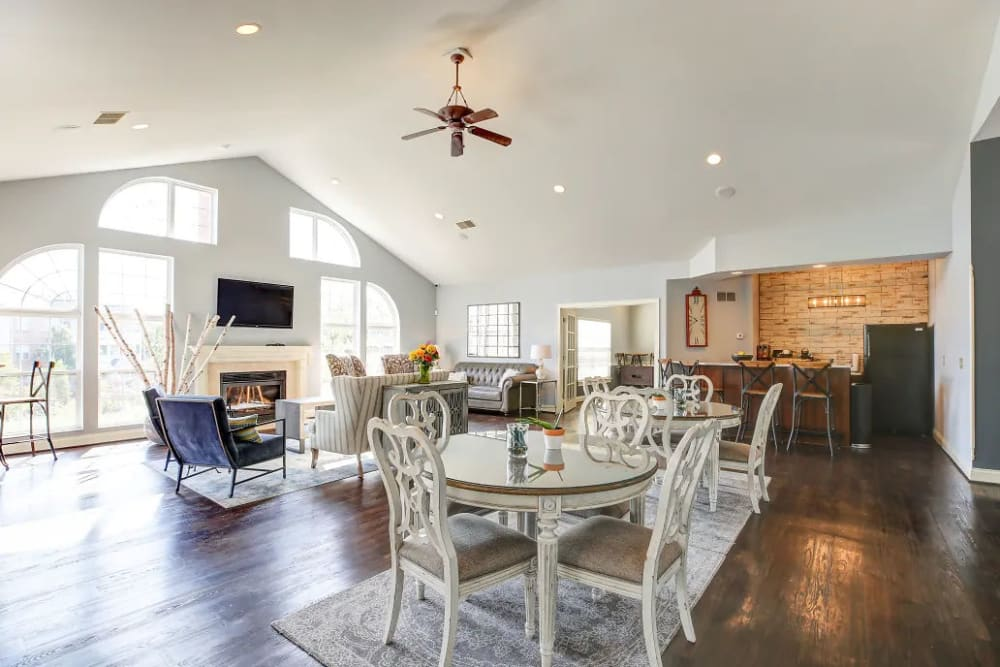 Vaulted ceilings in the clubhouse at Charleston Pines Apartment Homes in Florence, Kentucky