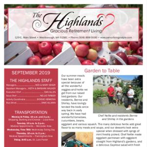 September The Highlands Gracious Retirement Living Newsletter