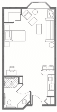 Assisted Living Suite at Hillcrest of Loveland in Loveland, Colorado
