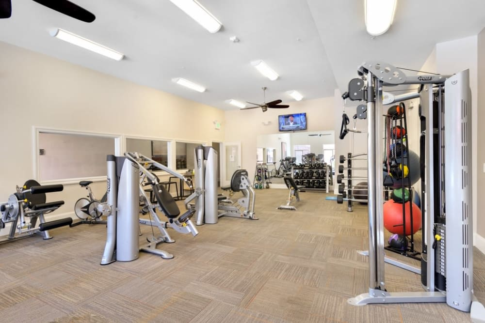 Onsite fitness center at The Parc at Greenwood Village in Greenwood Village, Colorado