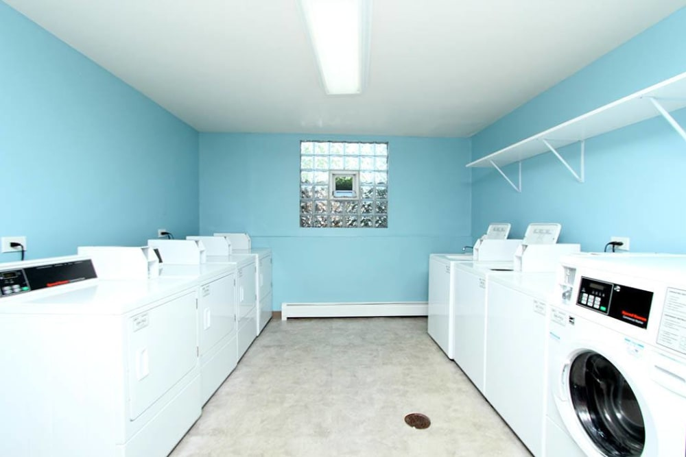 Laundry center at West Line Apartments in Hanover Park, Illinois