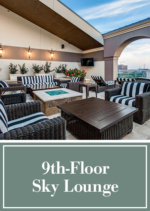 9th-floor sky lounge at Cantabria at Turtle Creek in Dallas, Texas