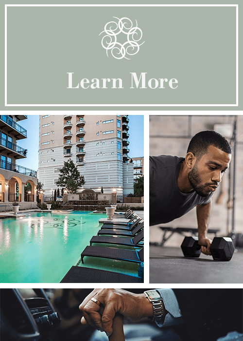 Learn about our amenities at Cantabria at Turtle Creek in Dallas, Texas