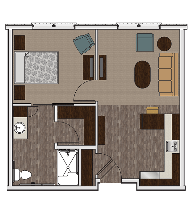 Stonecrest of Wildwood's two bedroom assisted living apartment