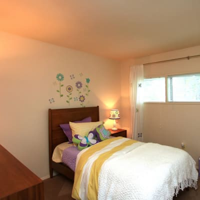 Beautiful bedroom at Cove Village in Essex, MD