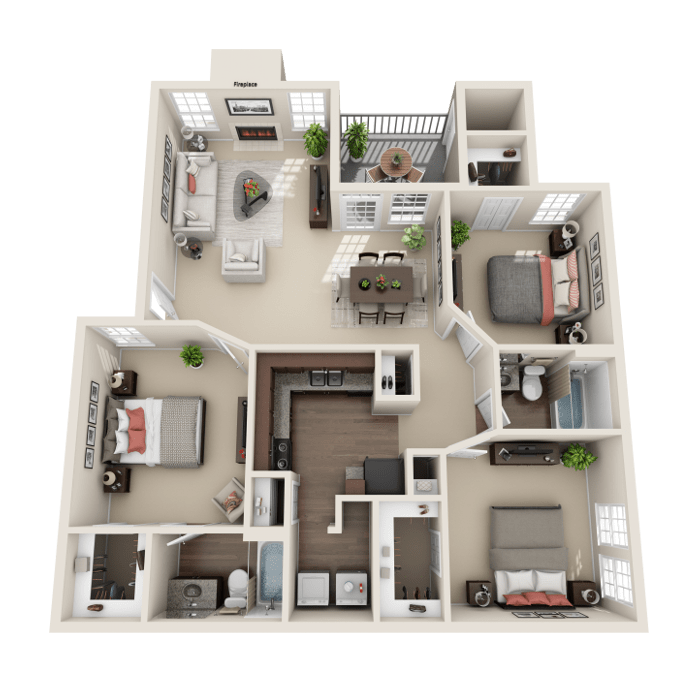 3 Bedroom Floor Plan - Venice A Layout