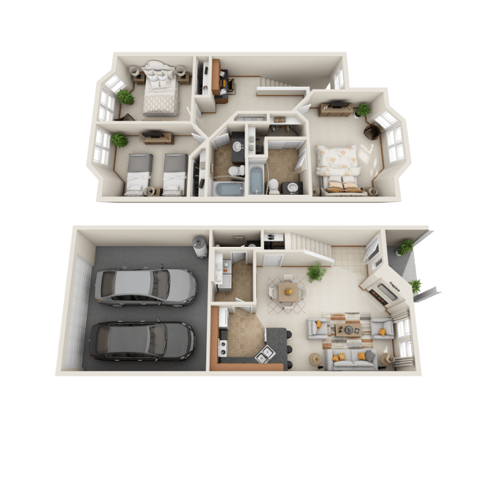 3 Bedroom Floor Plan - B