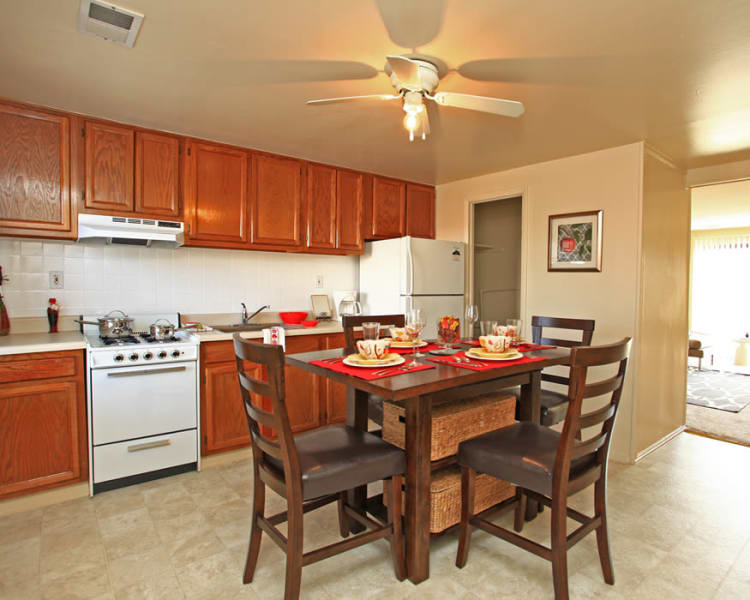 Fully-equipped kitchens at Pleasantview Townhomes in Baltimore, Maryland