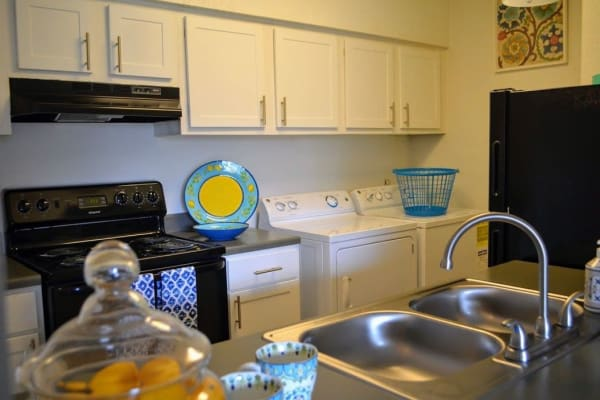 Kitchen at Bayou Parc at Oak Forest in Houston, Texas