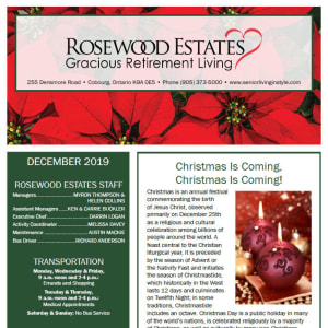 December Rosewood Estates newsletter