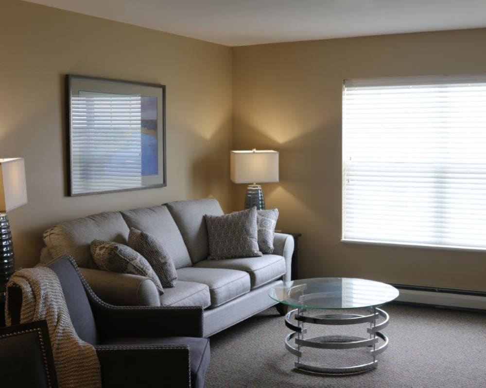 Spacious apartments are available at Keelson Harbour in Spirit Lake, Iowa.