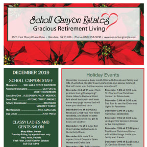 March Scholl Canyon Estates newsletter