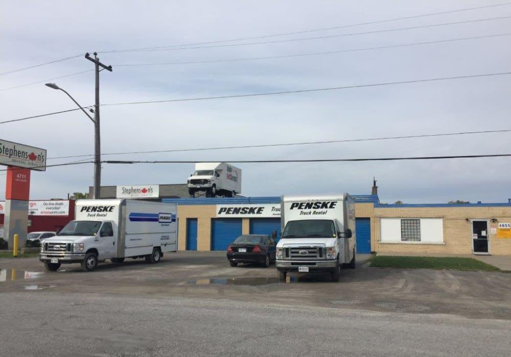 Truck rentals are available at Apple Self Storage - Niagara Falls - Kent in Niagara Falls, Ontario