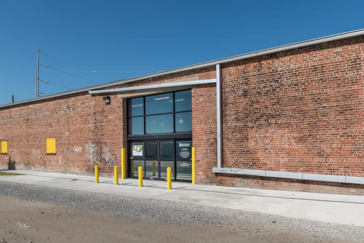 Back exterior of Riverfront Self Storage in New Orleans, Louisiana