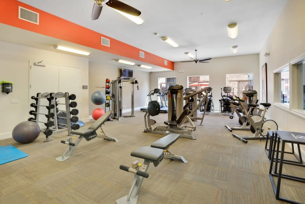 Fitness center at The Parc at Greenwood Village in Greenwood Village, Colorado