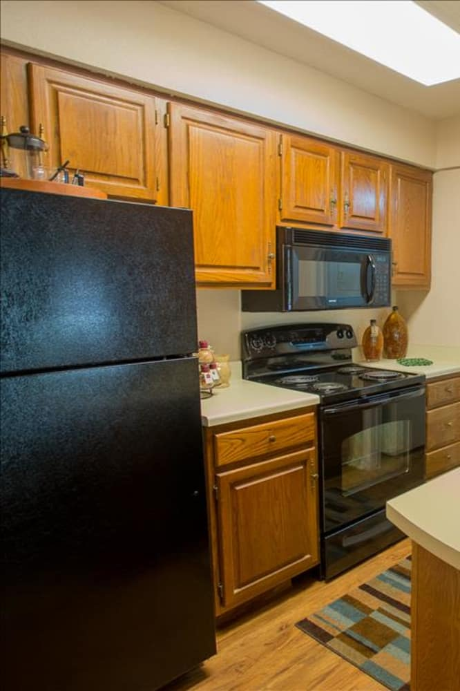 Bright kitchen at Barrington Apartments in Tulsa, Oklahoma