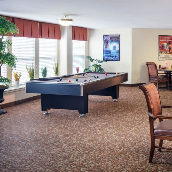 Pool table at Pacifica Senior Living Sterling in Sterling, Virginia