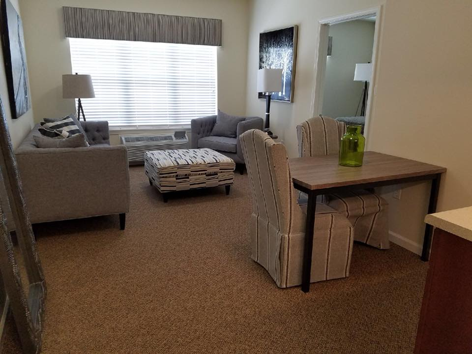Large one bedroom living area at Parkside in Rolla, Missouri
