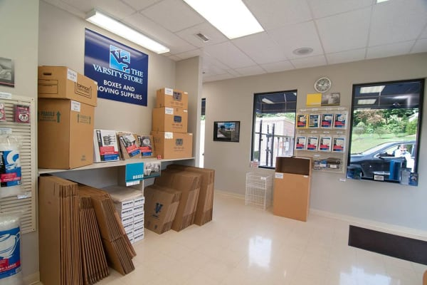Boxes and supplies sold at Virginia Varsity Storage in Roanoke, Virginia