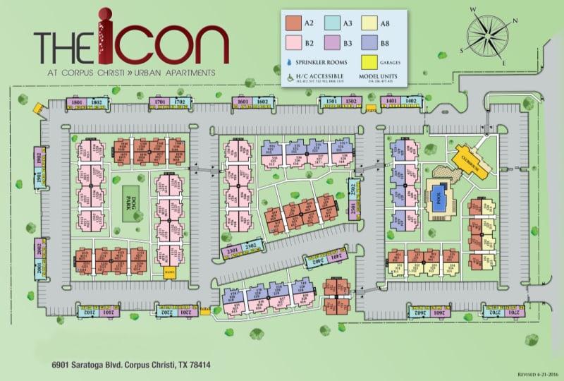 Site map for Icon at Corpus Christi in Corpus Christi, Texas