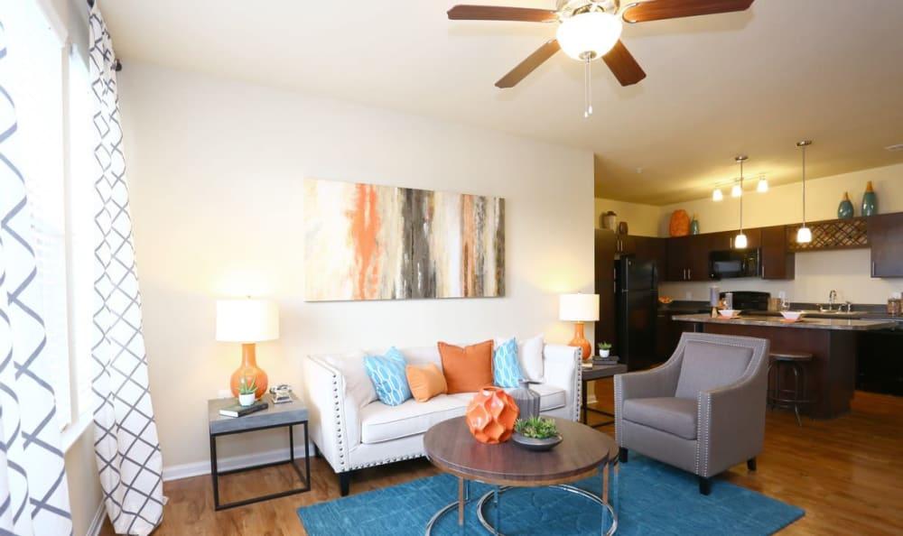 living room at Springs at May Lakes in Oklahoma City, OK