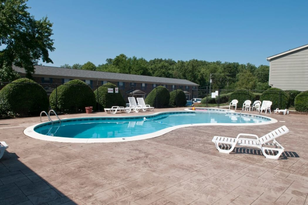 Enjoy a sparkling salt-water pool at Deane Hill in Knoxville, Tennessee
