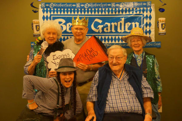 Residents at an event at Ebenezer Ridges Campus in Burnsville, Minnesota.