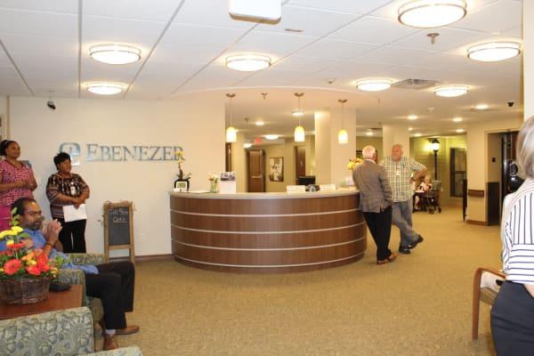 The lobby at Ebenezer Ridges Campus in Burnsville, Minnesota