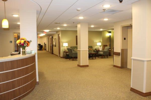 The front lobby at Ebenezer Ridges Campus in Burnsville, Minnesota