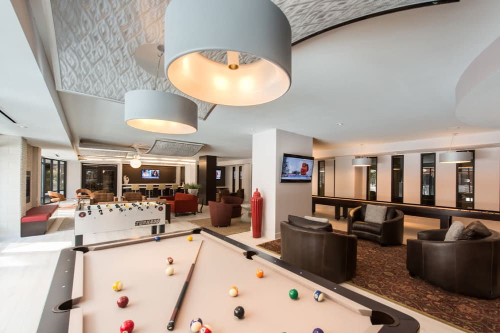 A spacious and modern clubhouse at Solaire 10914 Georgia in Silver Spring, Maryland