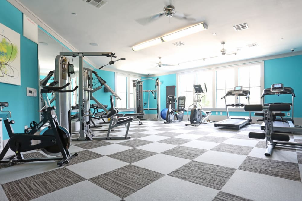 Fitness center at Heights West 11th in Houston, Texas