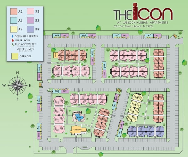 Site map for The Icon at Lubbock in Lubbock, Texas