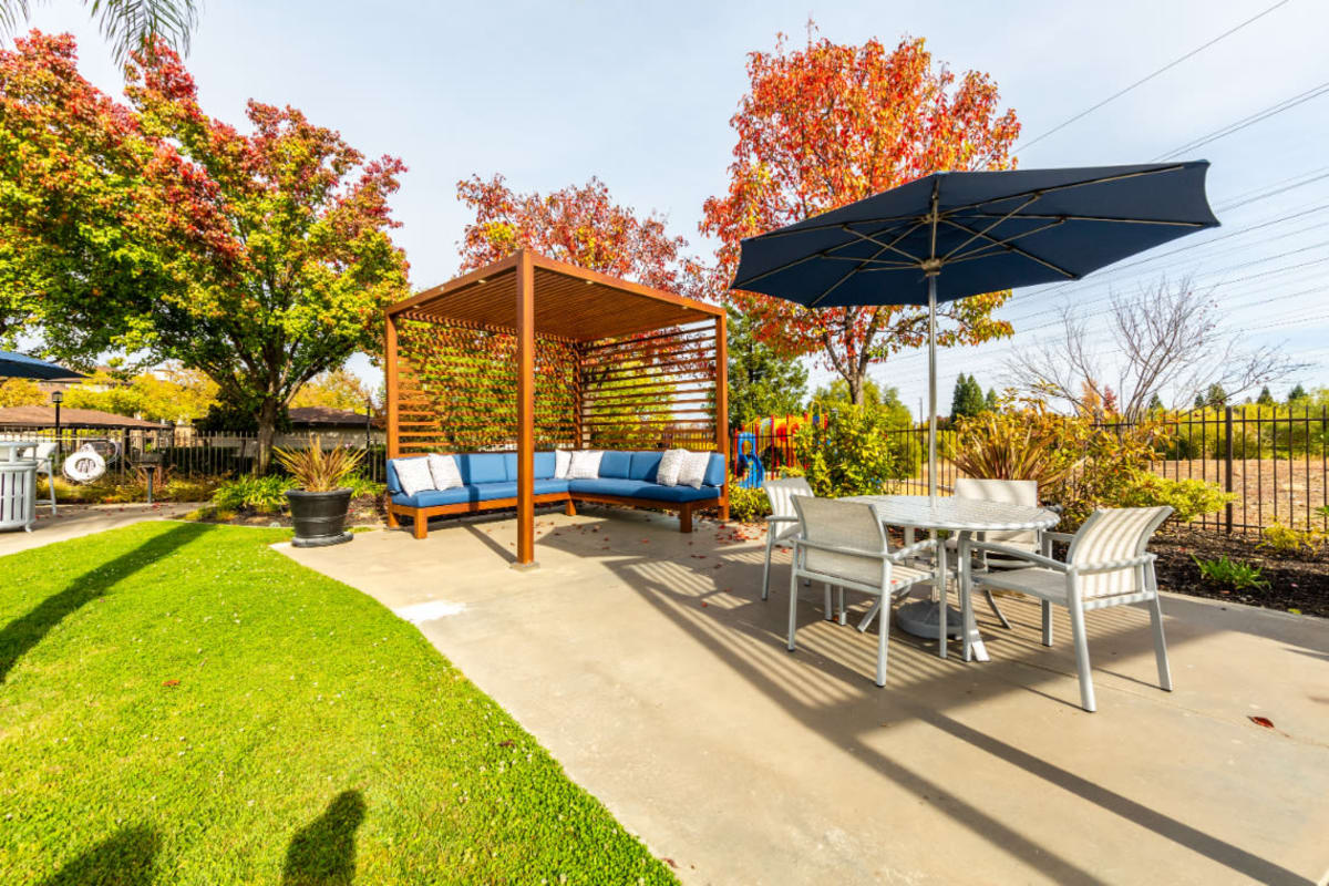 Poolside lounge area at The Fairmont at Willow Creek in Folsom, California